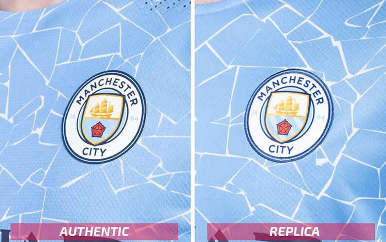 Replica vs Authentic Voetbalshirt Manchester City